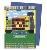 "Riverside Construction Paper, 9""""X12"""", Dark Blue, 50 Sheets - 103601"