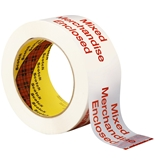 Scotch Printed Message Box Sealing Tape 3772 White, 48 mm x 100 m, - Pack of 1