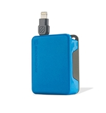 Scosche boltBOX Retractable Charge & Sync Cable for Lightning Devices, Blue - I2BOXBL