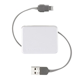 Scosche Retractable Lightning Cable, White - I2BOXWT