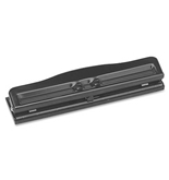 "S.P. Richards Company Adjustable 3 Hole Punch, Adjustable, 1/4"" Size, 8-10 Sheet Capacity, BK (SPR00786)"
