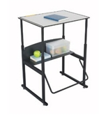 Safco 1203GR AlphaBetter Desk 28 x 20 Phenolic Top w/o Book Box - Gray