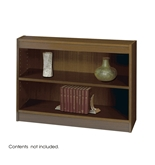 Safco 2-Shelf Square-Edge Veneer Bookcase, Walnut [Kitchen]