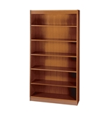 Safco 3-Shelf Square-Edge Veneer Bookcase, Cherry [Kitchen]