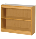 Safco 3-Shelf Square-Edge Veneer Bookcase, Light Oak [Kitchen]