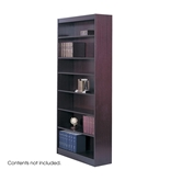 Safco 3-Shelf Square-Edge Veneer Bookcase, Mahogany [Kitchen]