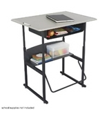 Safco AlphaBetter 24- x 36- Student Desk in Beige with Book Box