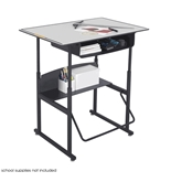 Safco AlphaBetter 24- x 36- Student Desk in Gray with Book Box
