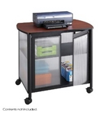 Safco Impromptu Deluxe Machine Stand with Doors, Black (1859BL) [CD-ROM]