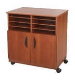 Safco Mobile Machine Stand with Sorter, Cherry [CD-ROM] [Kitchen]