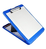 Saunders SlimMate Plastic Storage Clipboard, 00559, Letter Size (8.5 inch x 12 inch), Blue
