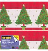 Scotch Gift Wrap, Festive Trees Pattern, 25-Square Feet, 30-Inch x 10-Feet (AM-WPFT-12)