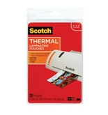 Scotch Thermal Laminating Pouches, 4.37 Inches x 6.36 Inches, 20 Pouches (TP5900-20)