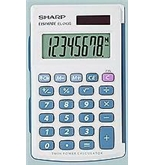 Sharp EL-243SB Electronics  8-Digit Twin Power Hard Cover Handheld Calculator