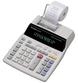 Sharp EL-1801V Desktop 2 color printing calculator with a large 12-digit blue fluorescent display