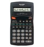 Sharp EL-500WWBK Fraction Calculator with Advanced Direct Algebraic Logic