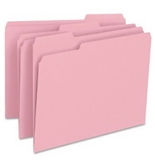 Smead 1/3-Cut File Folders, Letter Size, Pink, 100 Per Box (12643)