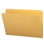 Smead 2/5-Cut Right Position File Folders, Heavy Duty Reinforced Tab, Letter Size, Goldenrod, 100 Per
