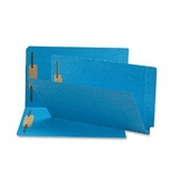 Smead End Tab Fastener Folder, Legal, Straight, Two 2-Inch Prong B Style #1 and #3 Fasteners, Blue, 50 per Box (28040)