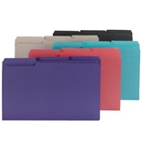 Smead Interior Folder, Legal Size, 1/3-Cut, Assorted Colors, 100 Per Box (15295)