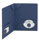 Smead Lockit Two-Pocket Folders, Linen Stock, Letter Size, Dark Blue, 25 per Box (87970)