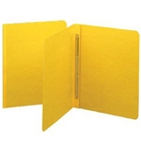 Smead PressGuard Report Cover with Fastener, 11 x 8.5 Inches, 3-Inch Capacity, Yellow, 25 Per Box (81852)