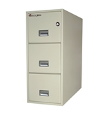 "Sentry 3T3131 3 Drawer 31"" Deep Fire And Water Resistant Vertical Legal File"