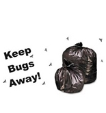Stout Insect-Repellent Trash Bag, with Pest-Guard, 45 Gallons, 2 Milliliters, 40 x 45, Black, 65/Carton (P4045K20)