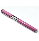 Stylus Blush Color Fountain Pen Chrome Carved Ring with Push in Style Ink Converter