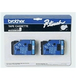 Brother TC12 1/2 Inch Blue On Clear P-Touch Tape