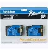 Brother TC13 1/2 Inch Gold On Clear P-Touch Tape