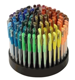 TEKwriterUSA Gelwriter Gel Pen Set with Rotating Stand, 100-Count (27131-D)