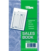 TOPS 46202 Duplicate Retail Sales Pad W/Carbon-Back Originals, 3-3/8 X 5, 50-Set Pad, 10/Pk