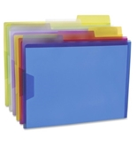 Poly Document Case - Assorted Colors - 6/BX