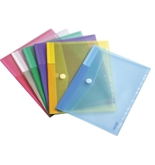 Poly Envelopes -Letter Size-Assorted Colors- 12 Pak