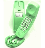 Trimline Phone - Earth Day Green - Durable Retro Novelty Telephone - An Improved Version of the Princess Phones in 1965 - Replica Retro Styling Big Button Phones For Seniors - 30 Day Money Back Guarantee - 3 Year Warranty - Desk or Wall Mountable - Unique Landline Corded Telephone for Office or Home - New Earth Day Green - iSoHo Phones