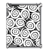 Uncommon LLC White Swirls Deflector Hard Case for iPad 2/3/4 (C0010-HR)