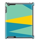 Uncommon LLC Deflector Hard Case for iPad 2/3/4 - Block Zig Zag Cyan Yellow (C0060-HR)