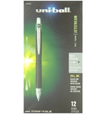 uni-ball Jetstream RT BLX Retractable Rollerball Pens, Bold Point, Green/Black Ink, Pack of 12