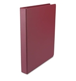 Round Ring Binder, Suede Finish Vinyl, Maroon - UNV31406