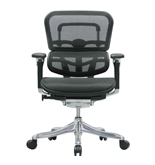 Ergohuman V200MEBLK Chair with Black Mesh and Black Frame