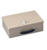 MMF Fire-Retardant Steel Security Box, Includes 2 Keys, Sand (221614003)