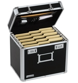 Vaultz Locking File Security Box, Letter Size, 13.5 x 10.5 Inches, Black (VZ0116)