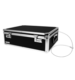 Vaultz Locking Storage Box, 6 x 18 x 13 Inches, Black VZ00323