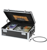 Vaultz Locking Storage Box, 6 x 18 x 13 Inches, Black (VZ00260)