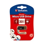 Verbatim 32GB Micro USB Flash Drive - Black,Minimum Qty. 12 -44051