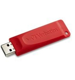 Verbatim 16GB Store 'n' Go USB Flash Drive - Red,Minimum Qty. 4 -96317