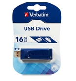 Verbatim 16GB USB Flash Drive - Blue,Minimum Qty. 4 -97275