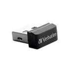 Verbatim 16GB Store 'n' Stay Nano USB Flash Drive - Black,Minimum Qty. 4 -97464