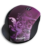 Verbatim Wireless Notebook Optical Mouse, Design Series - Purple,Minimum Qty. 4 - 97783
